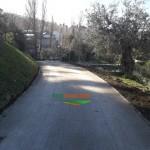 strada in terra stabilizzata - Marche