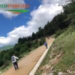 Fase di consolidamento superficiale strada in Terra stabilizzata Parco Nazionale dell'Appennino Lucano (Tramutola -Pz)