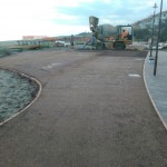 Fasi di lavorazione terra stabilizzata percorso dei Bronzi - Riace (Rc)