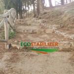 Terra stabilizzata sentiero naturalistico